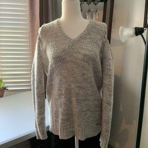 Michael Kors Cold Shoulder Gray sweater, size M